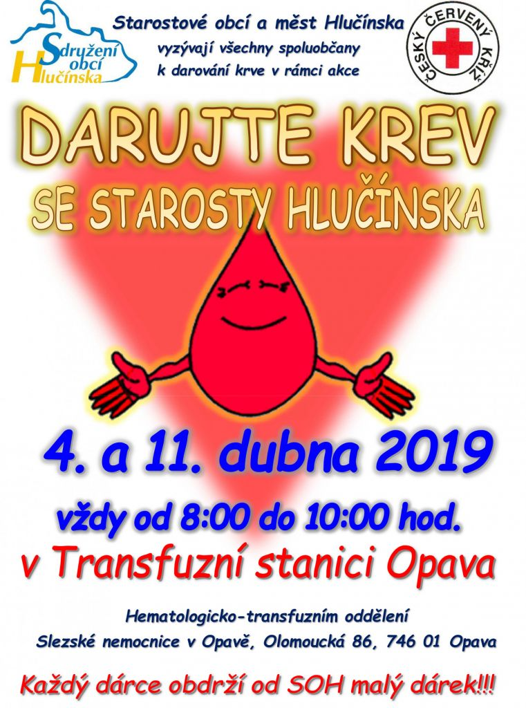 Darujte krev se starosty Hlučínska 1