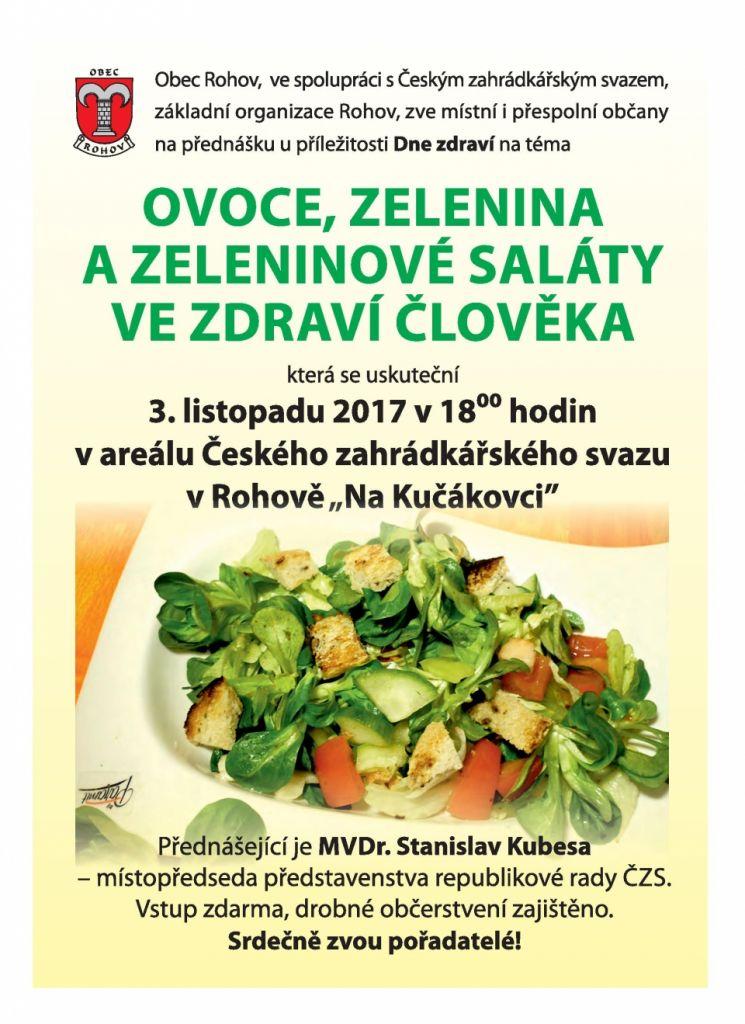 Ovoce, zelenina a zeleninové saláty ve zdraví člověka 1